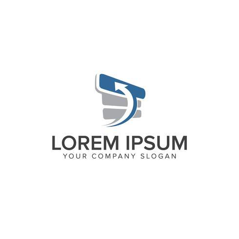 Modelo de conceito de design de logotipo estoque progresso ícone vetor
