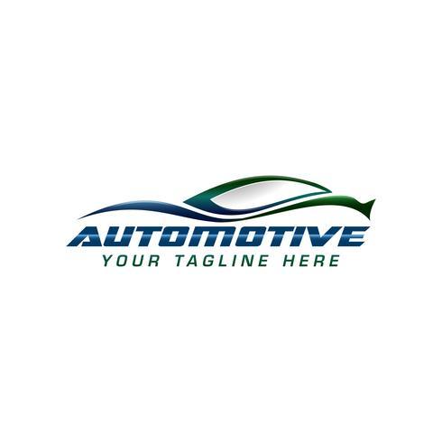conceito de design de logotipo automotivo vetor