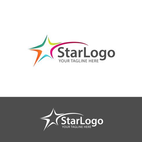 Elementos de modelo de design de ícone abstrato estrela logotipo vetor