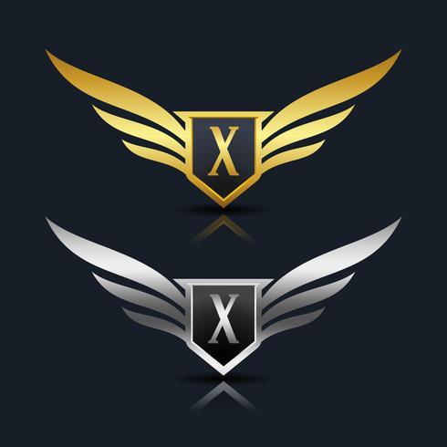 logotipo da letra x emblema vetor