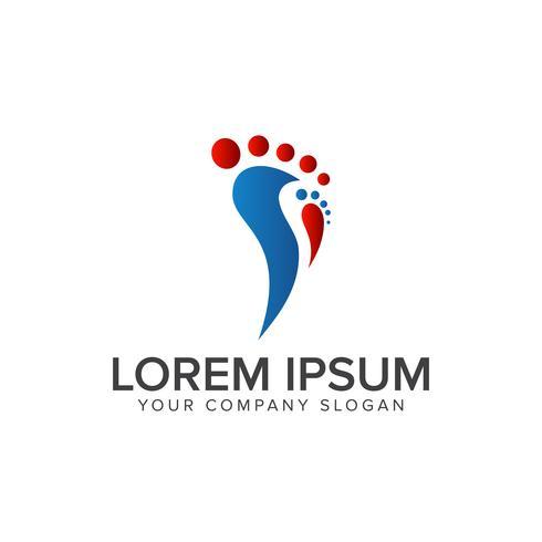 modelo de conceito de design de logotipo de pessoas de perna vetor