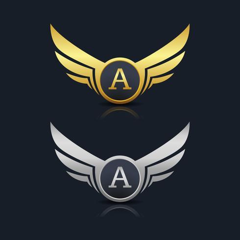 letra um logotipo emblema vetor