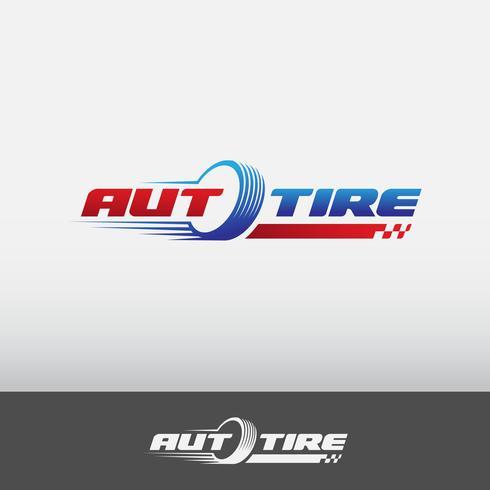 logotipo auto pneu vetor