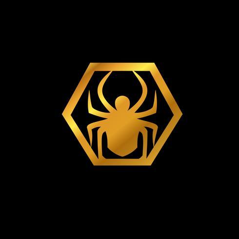 logotipo do emblema de aranha. modelo de conceito de design de logotipo de animais vetor