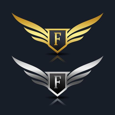 Letra F emblema Logo vetor