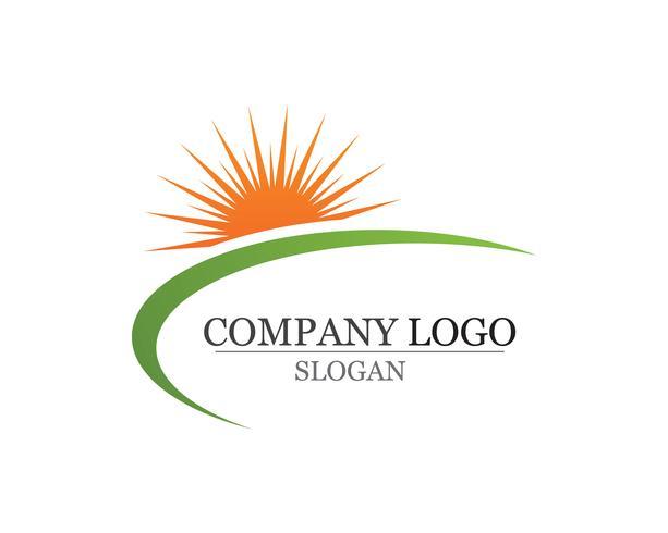 Logotipo do sol e web de ícone de estrela de símbolos Vector