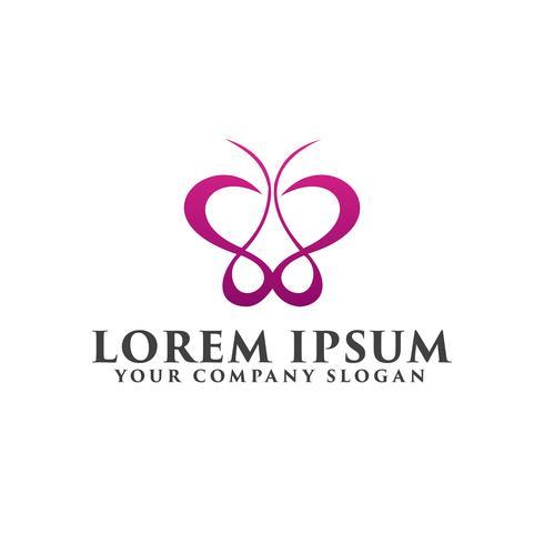 logotipo da borboleta, modelo de conceito de design de logotipo de beleza spa vetor