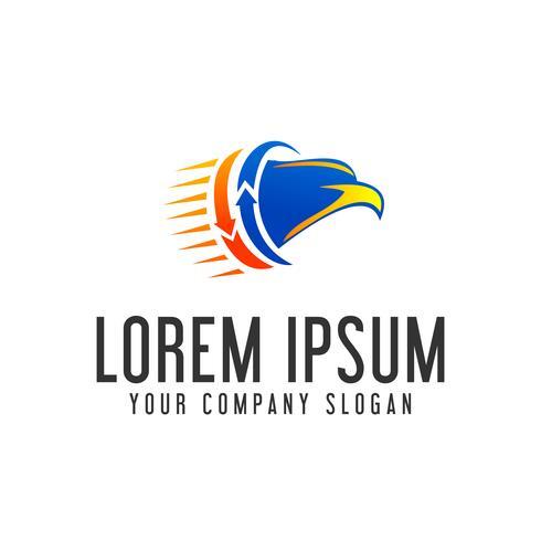 logotipo da cabeça da águia. modelo de conceito de design de logotipo em movimento rápido vetor