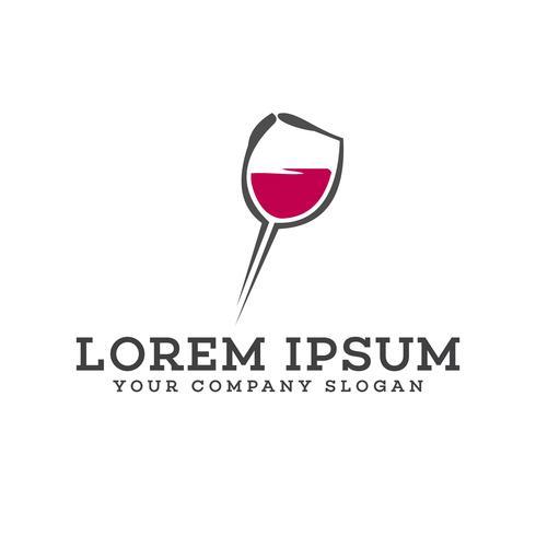 modelo de conceito de design de logotipo de clube de noite de bar vetor