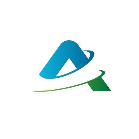 letra A logo. modelo de conceito de design de logotipo de fatia vetor