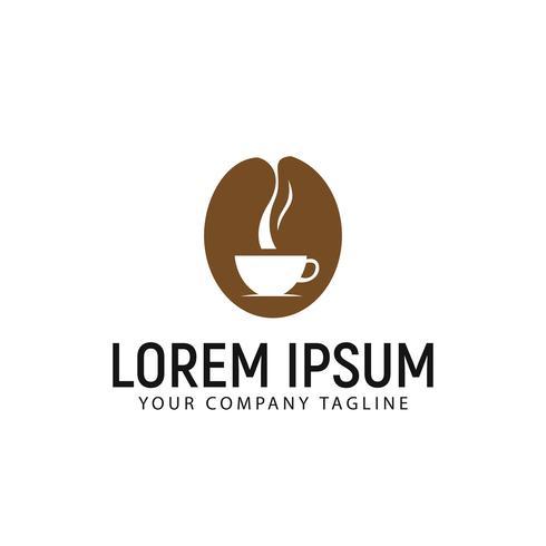 Modelo de conceito de design de logotipo de café vetor