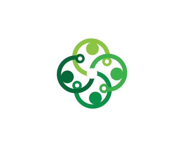 Logotipo de cuidados de saúde vetor