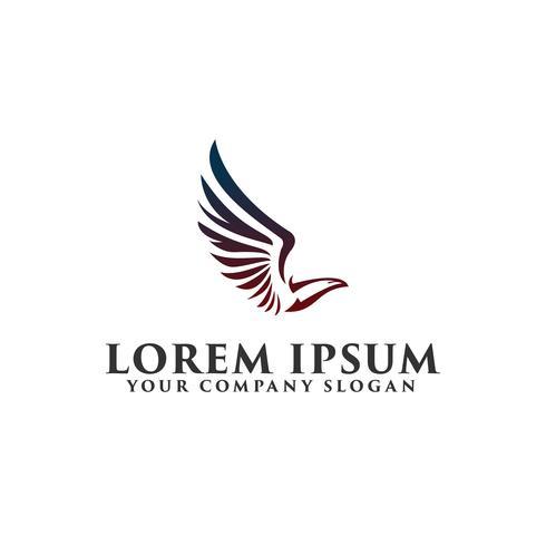 modelo de conceito de design de logotipo de pássaro de luxo vetor