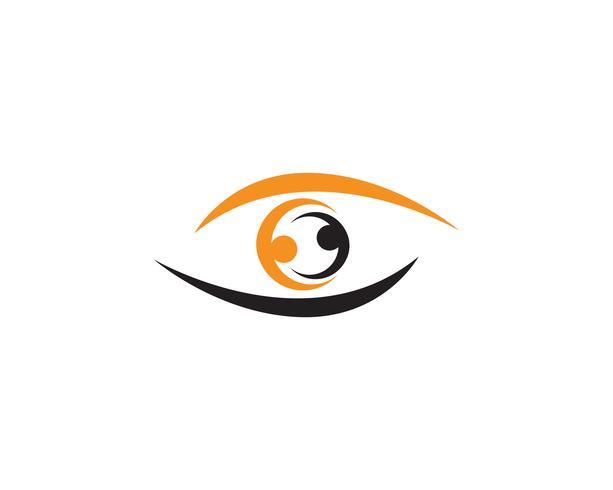 Logotipo de cuidados com os olhos e vetor de modelo de símbolos
