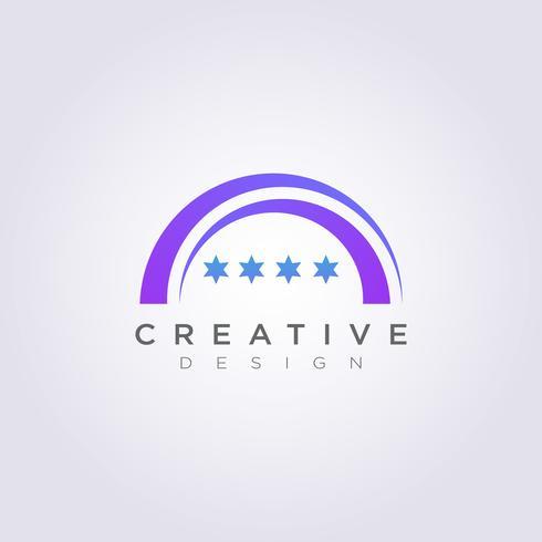 Círculo estrela palco Vector Design ilustração Clipart símbolo logotipo modelo