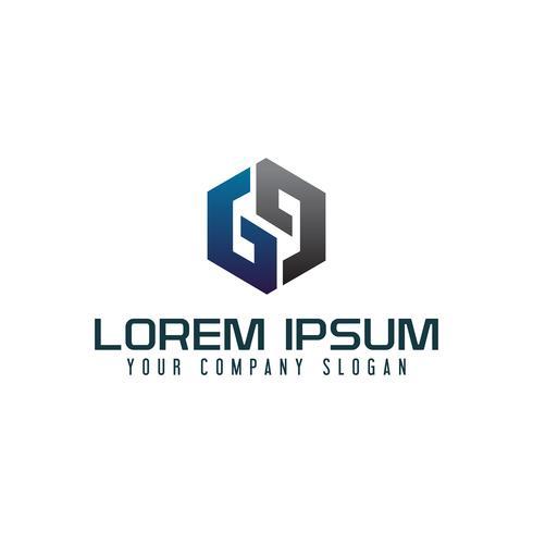 modelo de conceito de design de logotipo moderno letra G vetor