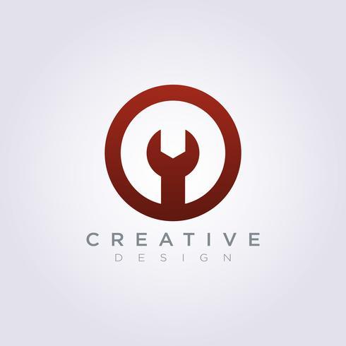 Projeto de ilustração vetorial mecânico de engrenagem círculo Símbolo de logotipo de clipart ilustração vetorial vetor