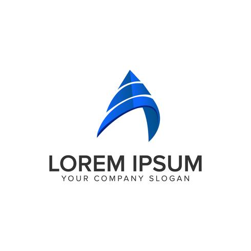 letra moderna Um modelo de conceito de design de logotipo. vec totalmente editável vetor