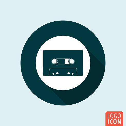 Ícone de cassete de áudio isolado vetor