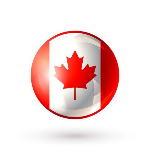 Ícone do Canadá isolado vetor
