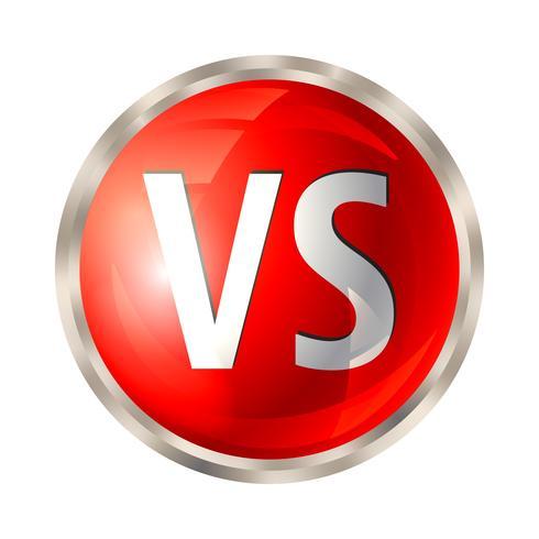 Versus botão isolado vetor