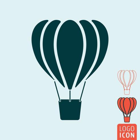 Ícone de balão isolado vetor