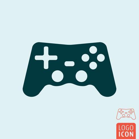 Ícone gamepad isolado vetor