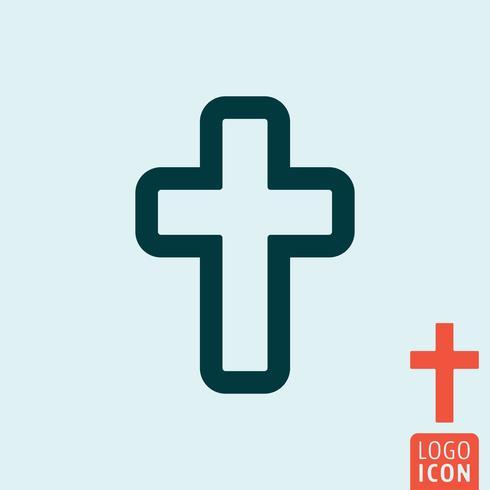 Cruz ícone isolado vetor