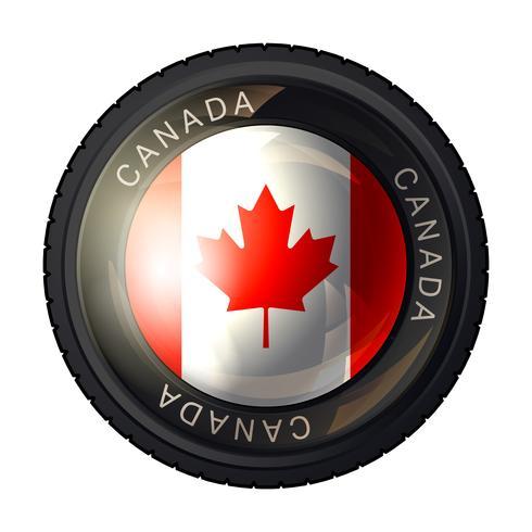Ícone de bandeira do Canadá vetor