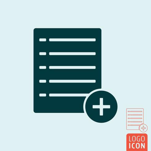 Adicionar ícone de lista vetor