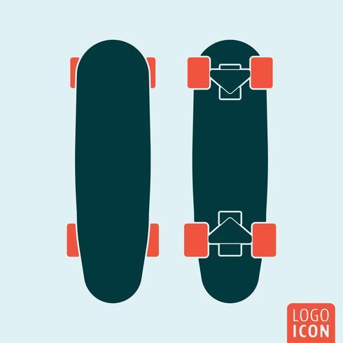 Ícone de skate isolado vetor