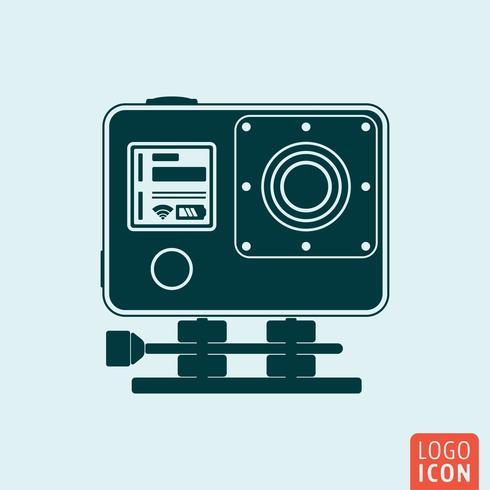Ícone de câmera de ação vetor