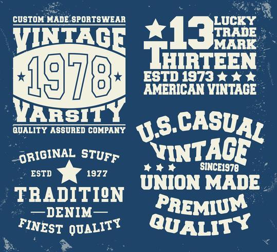 Definir selo vintage vetor