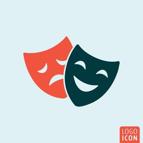 Ícone de máscara de teatro vetor