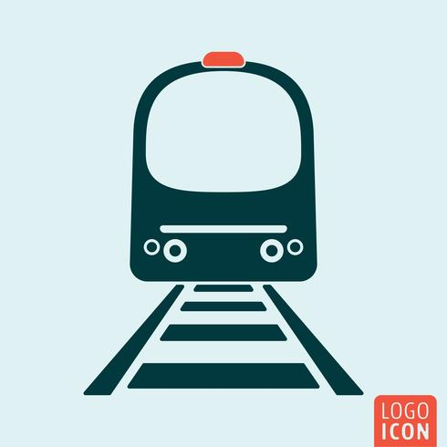 Trem, ícone, isolado vetor