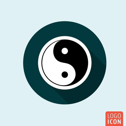 Ícone de ying yang vetor