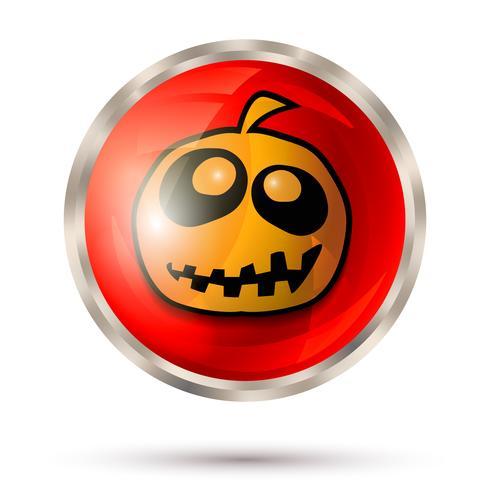 Ícone de botão de dia das bruxas vetor