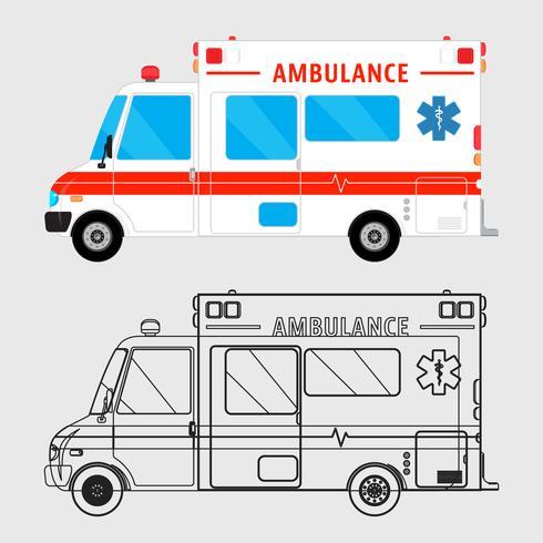 Carro de ambulância isolado vetor