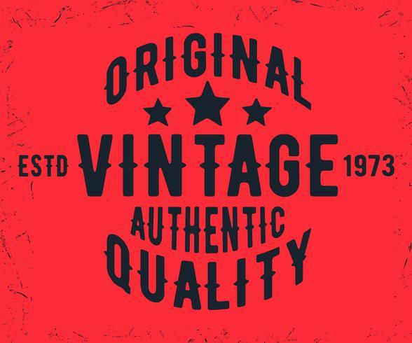 Selo vintage original vetor
