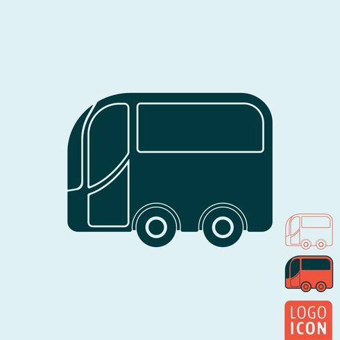 Ícone de ônibus isolado vetor