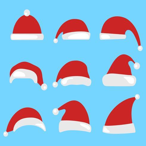 Chapéu de Papai Noel vetor