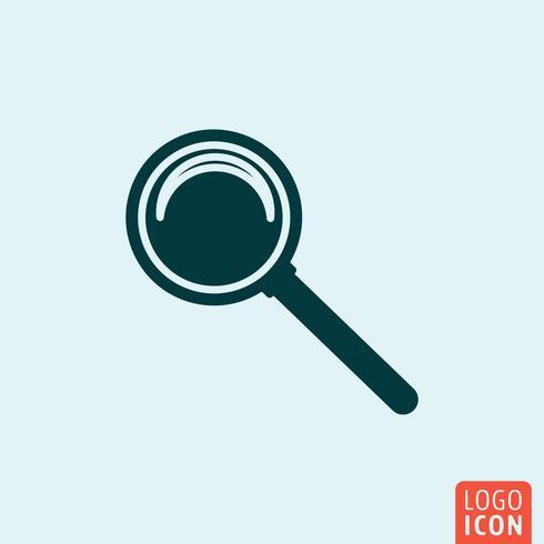 Pesquisa lupe icon minimal design vetor