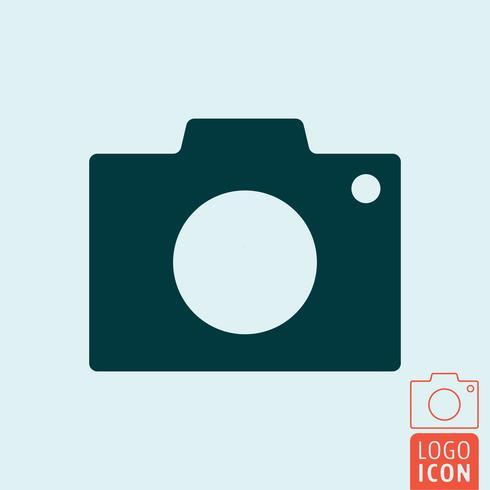 Ícone da câmera isolado vetor