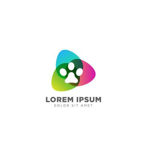 Cão Logo Linha design conceito vetor ícone elemento isolado