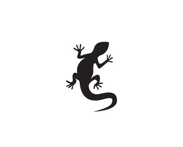 Logotipo de ícone de vetor de lagarto e modelo de símbolos