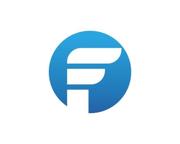 Logotipo de finanças F e símbolos vetoriais conceito ilustração vetor