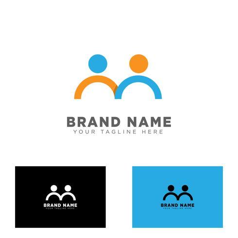 ilustração em vetor modelo comunidade grupo logotipo design