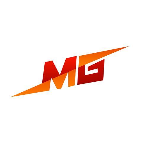 Carta MG Logo. modelo de conceito de design de velocidade vetor