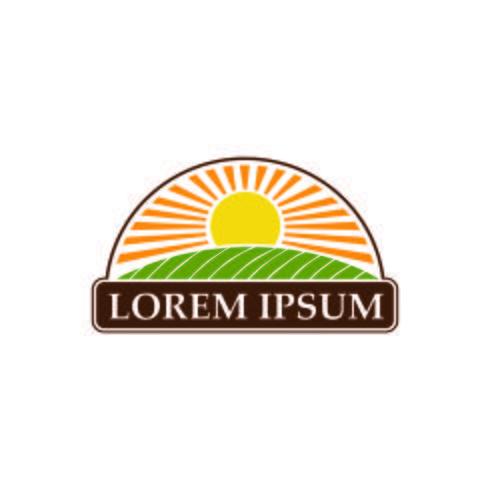 modelo de conceito de design de logotipo de paisagem orgânica vetor