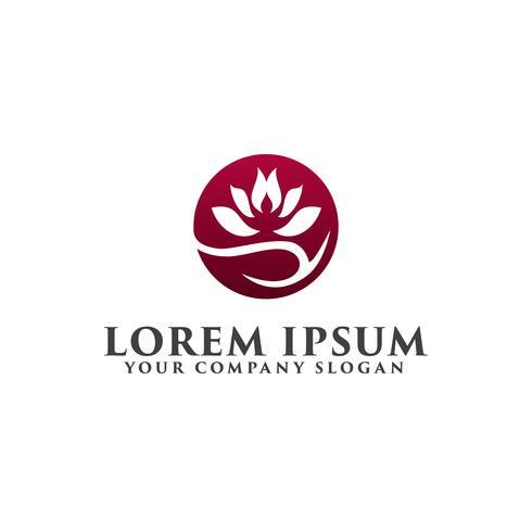 Logotipo da flor de lótus, logotipo de moda beleza Design de modelo vetor